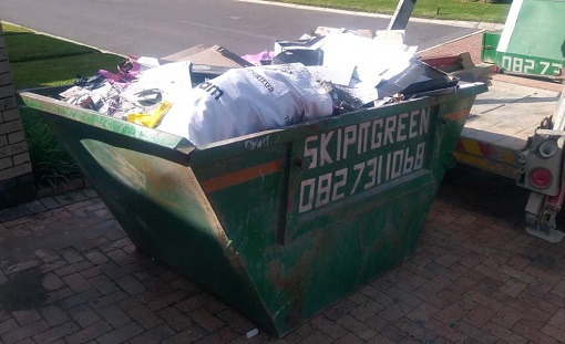 junk home waste removal using a skip in cape town south africa